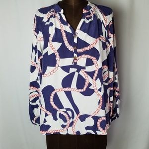 Lilly Pulitzer Tops - 🚫SOLD🚫 Lilly Pulitzer blouse red white blue